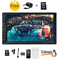 Upgrade Car MP5 Player Support GPS Navigation for Vehicles with 7 HD TFT Touch Screen in Dash Double Din Car Stereo MP5/MP4/MP3 Player Radio Bluetooth Rear View Camera Universal 2 Din Unit