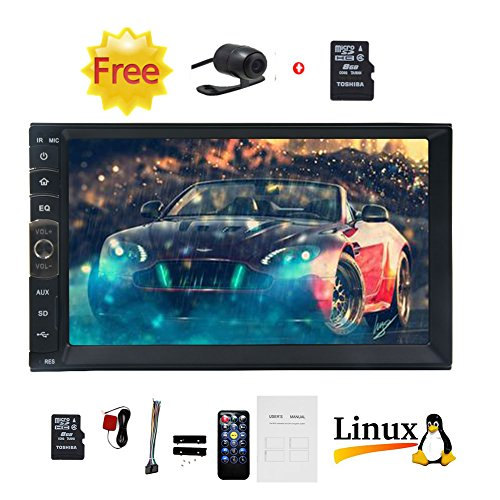 Upgrade Car MP5 Player Support GPS Navigation for Vehicles with 7'' HD TFT Touch Screen in Dash Double Din Car Stereo MP5/MP4/MP3 Player Radio Bluetooth Rear View Camera Universal 2 Din Unit