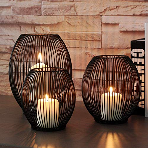 Roza Candle Holders - Morden Metal Hollow Out Candle Holder Articles Candlestick Hanging Lantern Home Decor Gifts TB Sale 1 PCs (Sale Lanterns Large For)