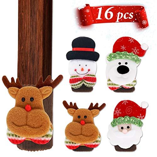 LimBridge 16pcs Christmas Chair Socks, Elastic Chair Leg Feet Floor Protectors Covers Set, Fit Girth from 4