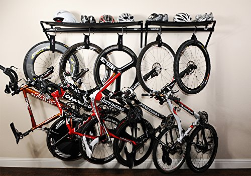 VeloGrip Home Storage 3-Bike Rack - Sx3 Black/Black