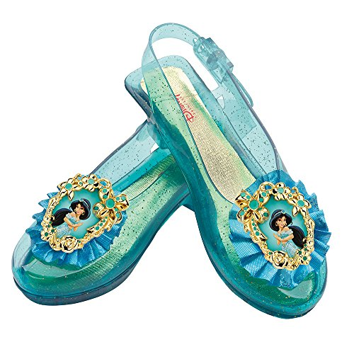 Princess Jasmine Costumes Girls (Disney Princess Aladdin Jasmine Sparkle Shoes)