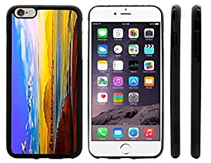 Rikki KnightTM Beautiful Gold Sunset Painting Design iPhone 6 Plus Case Cover (Black Rubber with front bumper protection) for Apple iPhone 6 Plus
