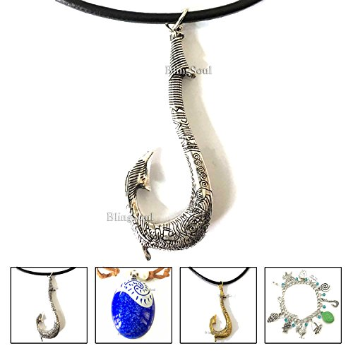 Moana Maui's Fish Hook Antique Necklace Jewellery (Maui Silver)