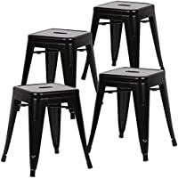 Poly and Bark Trattoria 18 Stool in black (Set of 4)