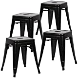 Poly and Bark Trattoria 18'' Stool in black (Set of 4)