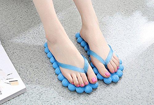 GR Zapatillas para mujeres y chicas, Zapatillas de masaje, Zapatillas de playa hechas por EVA Blue