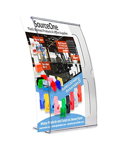 Source One 6 Pack A4 Deluxe Curved 8 1/4 x 12 Inch Sign Holder Ad Frame Picture Frame
