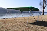 New Green Vortex Pontoon / Deck Boat 4 Bow Bimini Top 8' Long, 8' Wide 91-96'' Wide, 54'' High, Complete Kit, Frame, Canopy, and Hardware (FAST SHIPPING - 1 TO 4 BUSINESS DAY DELIVERY)