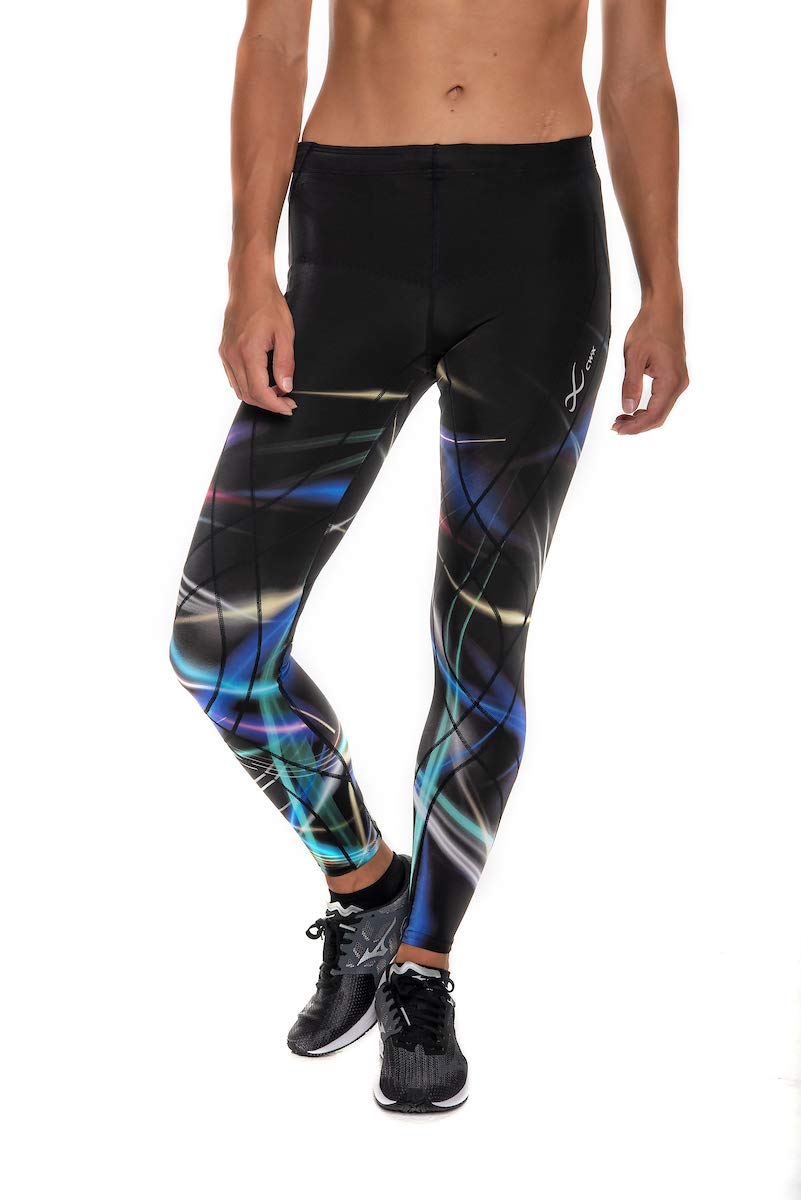 CW-X Endurance Generator Full Length Compression Tights, Laser Flash Print, Small by CW-X (Image #1)