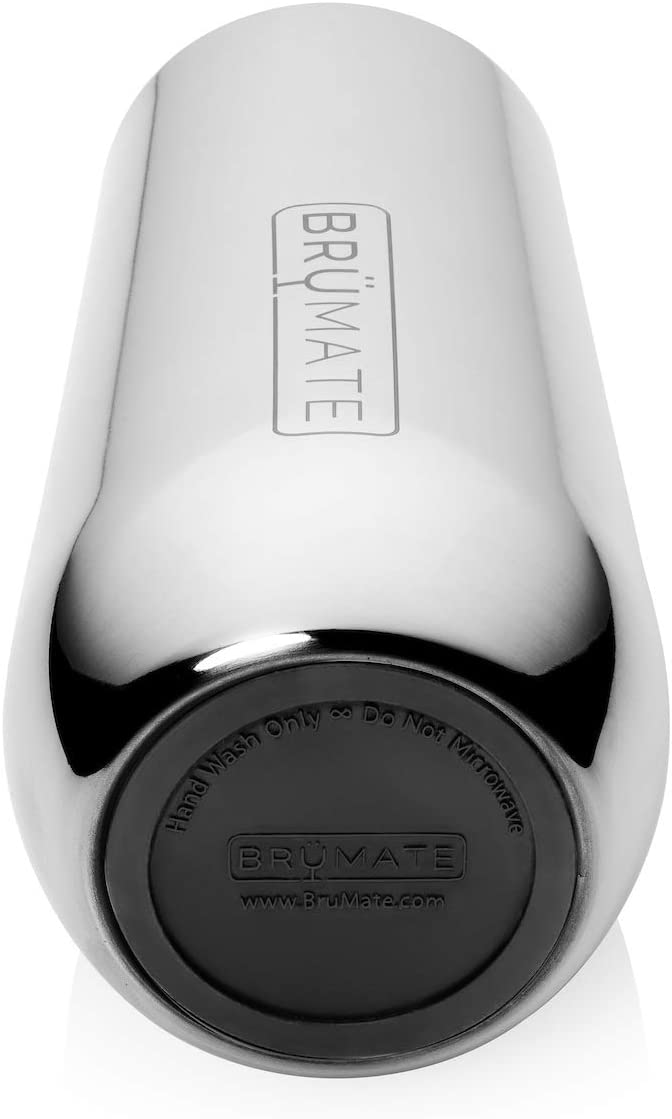 Made With Vacuum Insulated Stainless Steel Matte Black Br/üMate 12oz Insulated Champagne Flute With Flip-Top Lid