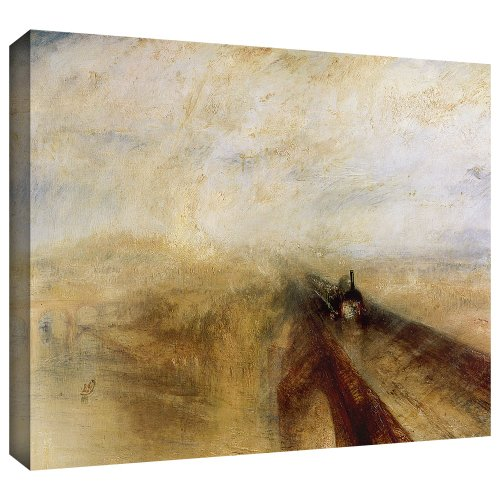 ArtWall 'Rain Steam and Speed, The Great Western Railway II' Gallery-Wrapped Canvas Art by William Turner, 18 by 24-Inch