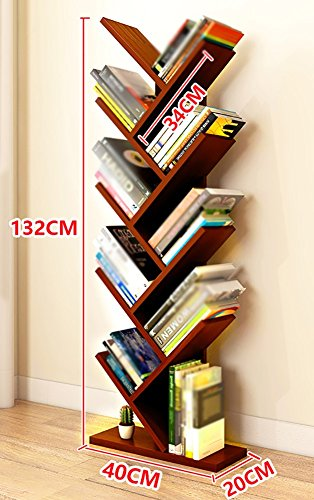 Dining Room Maple Cupboard - Bookshelf Storage Cupboard Assembled Organiser Large Floor Bookcase For Living Room (Color : Teak color)