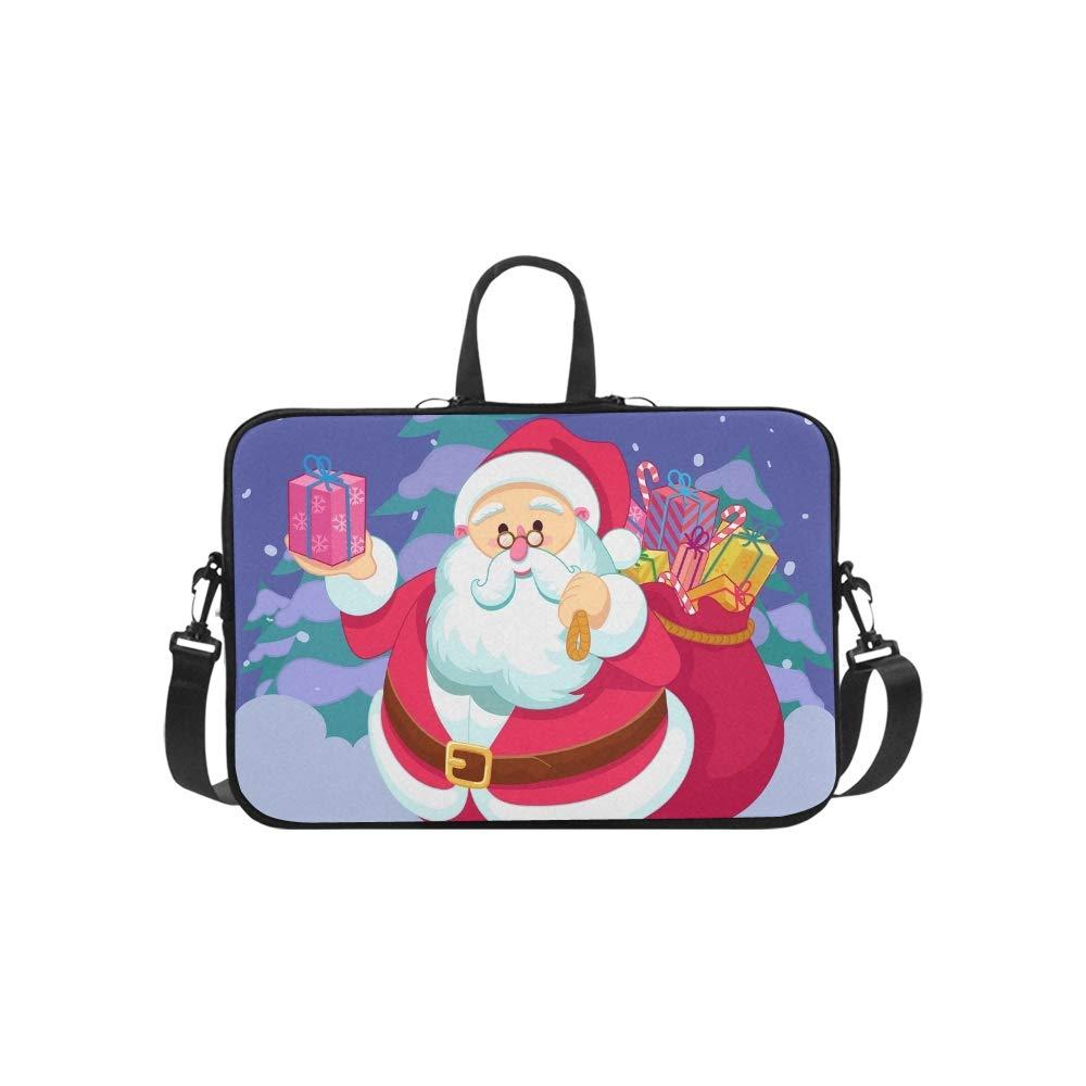 Regalos de Santa Claus Maletín con diseño de Feliz Navidad Laptop Bolso para Laptop Navidad Bolso Messenger Bolsa de Trabajo Bolso Bandolera para Viajes de Negocios 30ca25