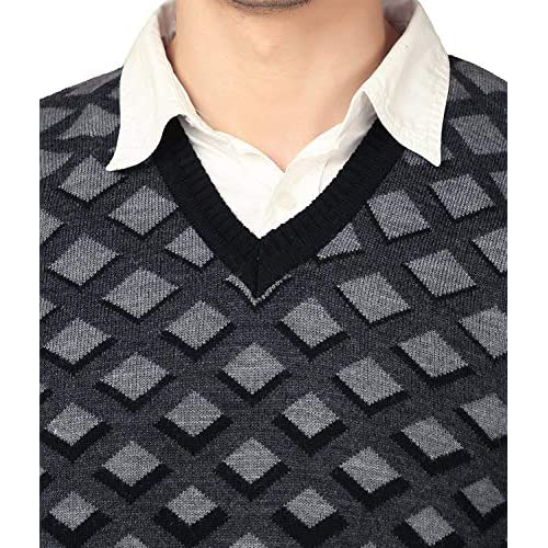 51UgEcykjKL. SS500  - aarbee Men's V-neck Long Sleeve Regular Fit Sweater