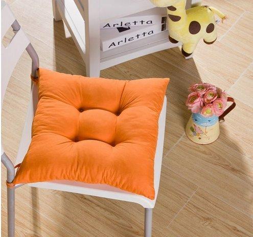 Tia-Ve Soft Sedia Cuscino Seat Pad Sedile Cuscino Cucina Giardino da Pranzo Sedia 40x40x8cm Arancia
