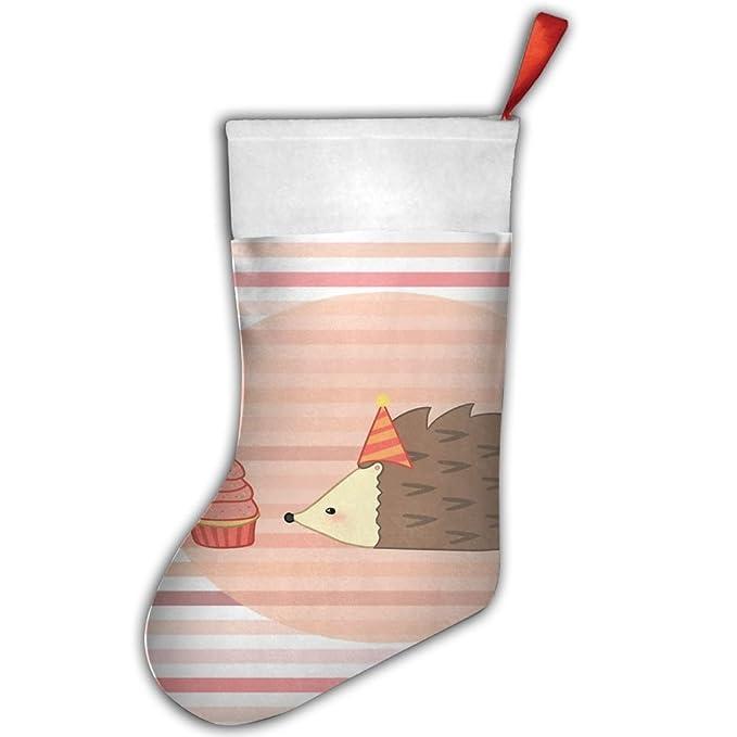 DingLing codicioso pequeño erizo personalizado divertido fiestas de Navidad regalos calcetines calcetín de Papá Noel calcetines de Festival: Amazon.es: ...