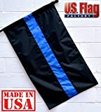 US Flag Factory 2.5'x4′ Thin Blue Line Flag (Pole Sleeve) (Sewn Stripes) for Police Officers – Blue Lives Matter Flag – Outdoor SolarMax Nylon – 100% Made in America For Sale