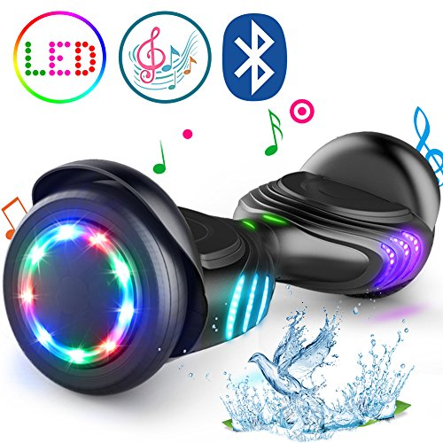TOMOLOO Self-Balancing Scooter UL2272 Certified 6.5″ Wheel Hoverboard with RGB Lights Bluetooth Speaker …