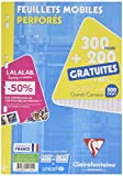 11791c Clairefontaine Loose Sheets seyes Ruled Paper Large Squares 21 x 29.7 cm Pack of 200 FREE 300