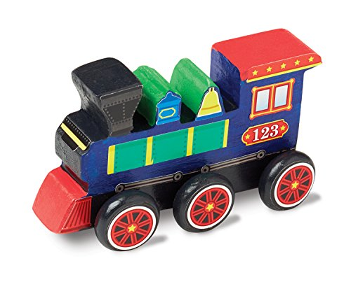 Melissa & Doug Decorate-Your-Own Wooden Train Craft Kit