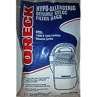 Oreck Edge Compact Canister 1400 & 1500 Series Vacuum Bags 12 Pk Part # PKCC12DW