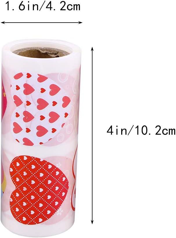 Coeur Pastel Recyclage Autocollants pour emballage