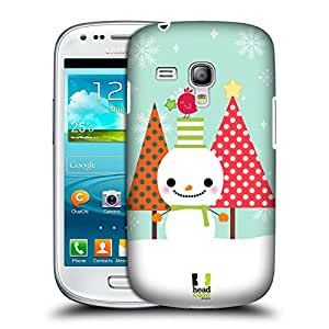 Head Case Designs Christmas Trees Snowmen Protective Snap-on Hard Back Case Cover for Samsung Galaxy S3 III mini I8190