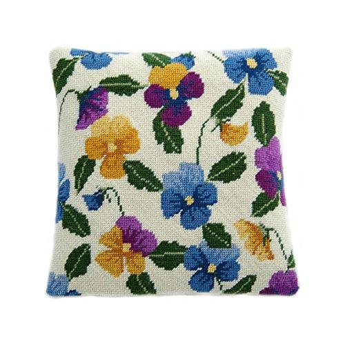 Cleopatras needle Pansy Garden Lavender Pillow Needlepoint kit