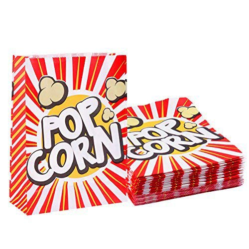 TOYMYTOY Popcorn Bags Movie Theater Popcorn Boxes Paper Popcorn Bag for Party, Wedding(48 Bags) ()