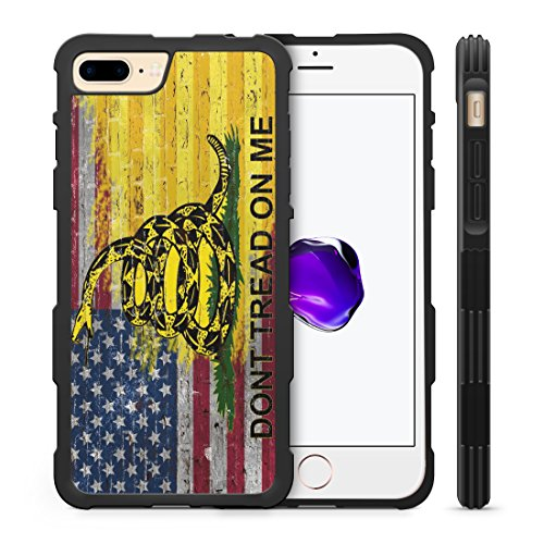 407Case American Gadsden Flag Brick Wall Hyper Shock Rubber Protective TPU Case (Compatible with iPhone 7 Plus/ 8 Plus)