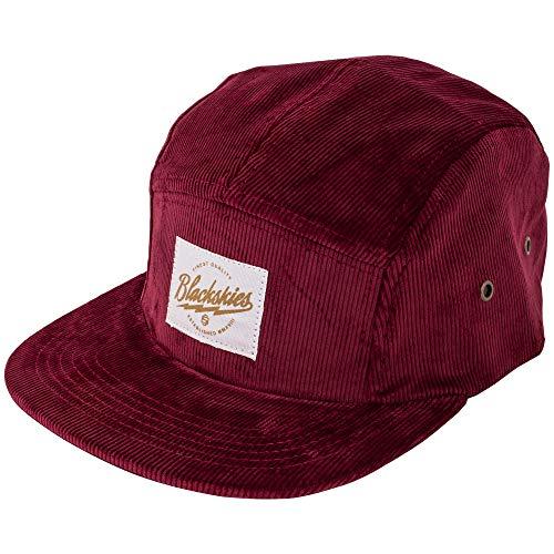 Blackskies Crimson 5-Panel Hat   Men Women Premium Baseball Cap Dad Snapback Strapback Hip Hop Urban Corduroy Wine Red