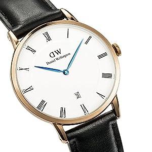 Daniel Wellington Reloj Analógico para Hombre de Cuarzo con Correa en Cuero DW00100084 4
