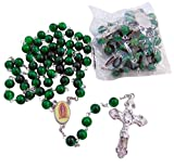 Our Lady of Guadalupe Rosary Bulk Lot Set of Rosaries for First Communion or Quinceanera, 10 Pack