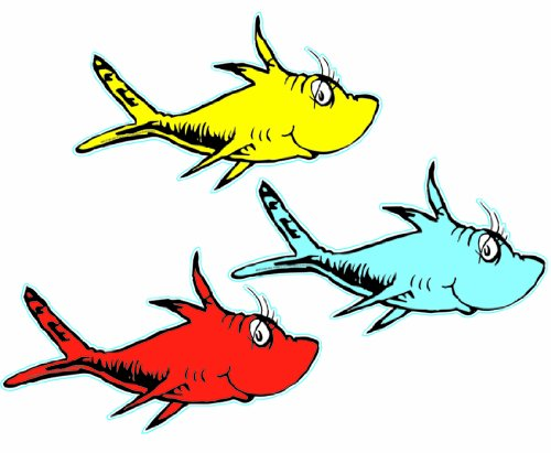 Eureka Dr. Seuss One Fish, Two Fish (Asst) Paper Cut Outs
