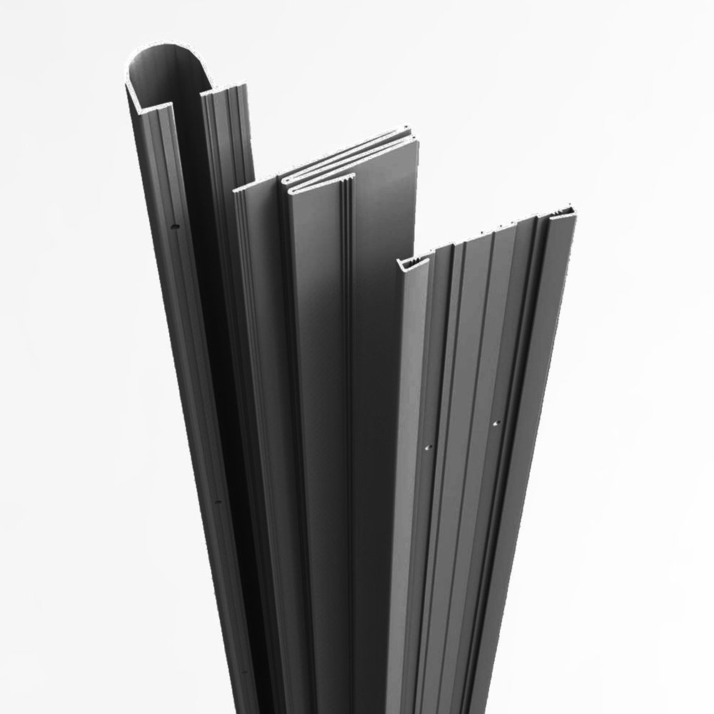 Complete Door Safety Shield Set   Finger Pinch Protector Guards for Door Hinges (80'', Black)