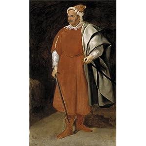 Oil Painting 'Velazquez Diego Rodriguez De Silva Y The Buffoon Redbeard Cristobal De Castaneda Y Pernia Ca. 1635' 12 x 20 inch / 30 x 51 cm , on High Definition HD canvas prints, Bar, Home Off decor