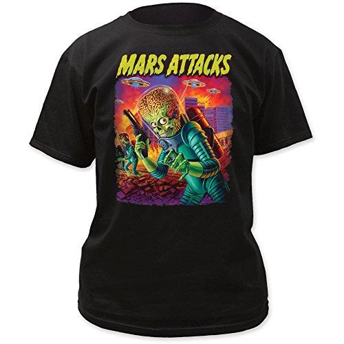 Mars Attacks UFO's Attack Men's Tee Black (XLarge)