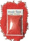 Red Sugar Strands cake sprinkles 30g for cake or cupcake decorations
