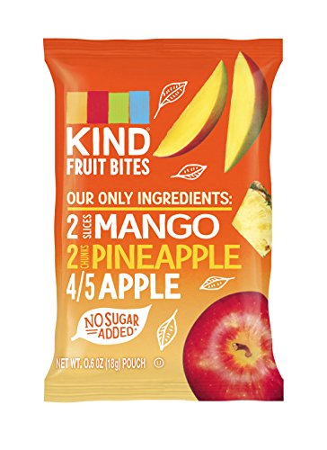 KIND Fruit Bites Fruit Snacks, Mango Pineapple Apple, Gluten Free, Nut Free, .6oz Pouches, 40 Count