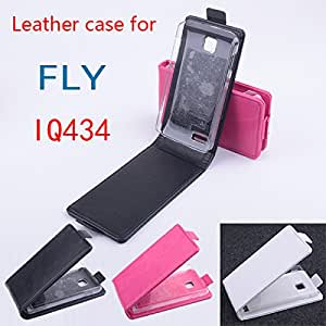 High Quality New Original FLY IQ434 Leather Case Flip Cover for FLY IQ 434 Case Phone Cover In Stock Free Shipping --- Color:Rose