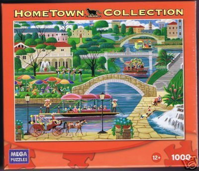 HOMETOWN COLLECTION Featuring the Art of Heronim River Walk 1000 Piece Puzzle