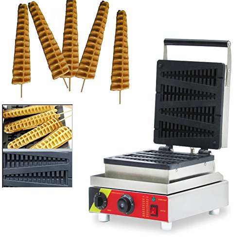 110V Commercial Nonstick Electric 4pcs Lolly Waffle Stick Baker Maker US5
