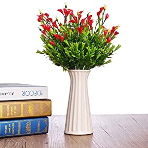 TTOYOUU Artificial Flowers, 2pcs Calla Lily Silk Artificial Flower Bouquets Wedding Party Home Decoration 13