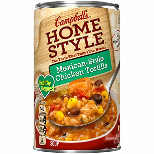 Campbell's Homestyle Healthy Request Soup, Mexican-Style Chicken Tortilla, 18.6 Ounce