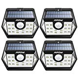 Mpow Solar Lights Outdoor, 20 LED Motion Sensor Lights with Wide Angle Lighting, IP65 Waterproof Wireless Security Lights for Garage Front Door Garden Pathway – 4 Pack (Auto On/Off)
