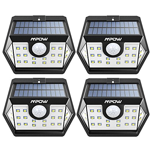 Mpow Solar Lights Outdoor, Bright 20 LED Motion Activated Lights with Wide Angle Lighting, IP65 Waterproof...