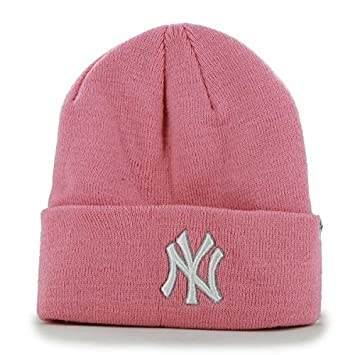 New York Yankees MLB NY Pink Women s Beanie Hat - Ladies Cuffed Winter Knit  Cap by  47  Amazon.co.uk  Sports   Outdoors 013a3e685
