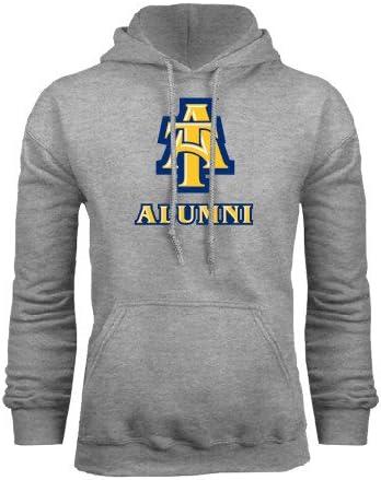 CollegeFanGear North Carolina A/&T Grey Fleece Hoodie Alumni