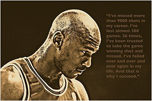 HSE SUCCESS QUOTE photo poster MICHAEL JORDAN basketball gre